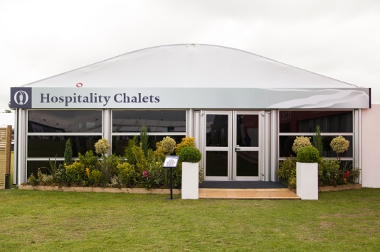 Hospitality chalets at The Open